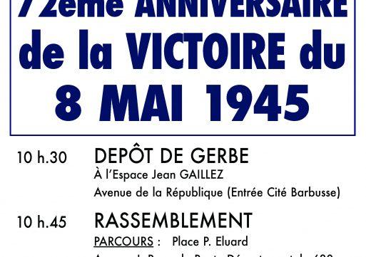 72ème anniversaire de la victoire du 8 mai 1945
