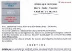 Arrêté pour la rue Jules Mousseron