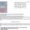 Arrêté pour les rues J. Prevert, Montesquieu, ruelle Cauchies, G. Moquet et Boca