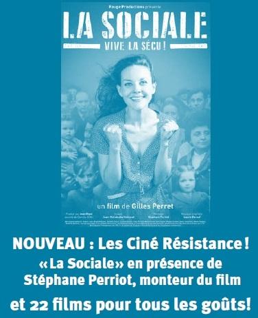 """Nouveau dans votre programme cinéma : Découvrez les """"CINÉ RÉSISTANCE"""""""