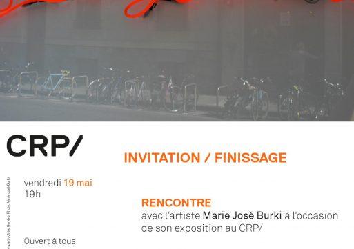 Inauguration d'une œuvre publique néon de l'artiste Marie José Burki pour le Crp/