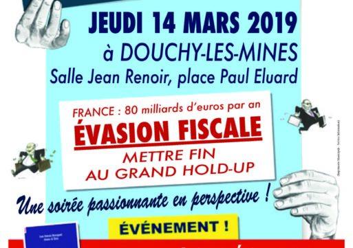 """Débat Public """"Evasion Fiscale : mettre fin au hold-up"""" à la Salle Jean Renoir"""