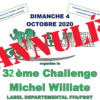 Annulation du 32e Challenge Michel Williate