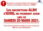 ATTENTION, annulation des inscriptions ALSH AVRIL