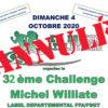 Annulation du 32e Challenge Michel Williate