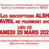 ATTENTION, annulation des inscriptions ALSH AVRIL
